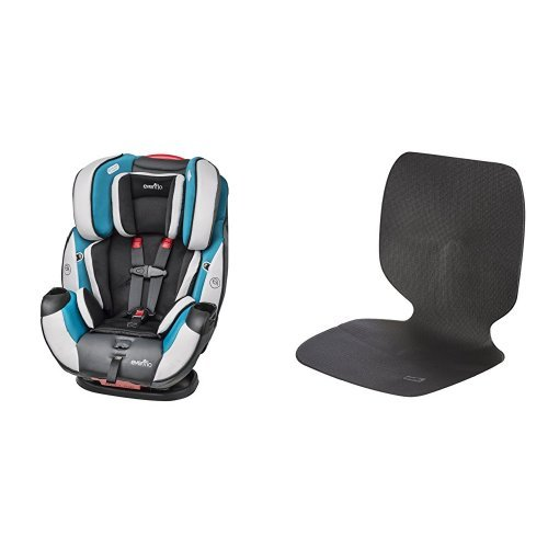 Evenflo Symphony DLX All-In-One Convertible Car Seat, Modesto with Car Undermat & Seat Protector