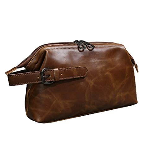 Capacity Multifunctional Sport Bag Brown Purse Leather Portable Retro color Large Hhgold Handbag Brown Clutch qvwH8AxZ