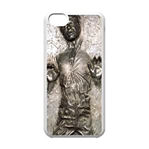 Ultra Thin Star Wars Han Solo in Carbonite Life ,TPU Phone case for iphone5c,white