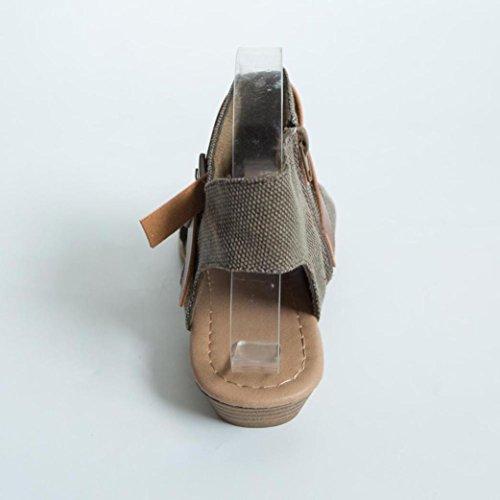 Rawdah-Sandales Sandales Plates De Poisson Femmes Fish Mouth Chaussures Sandales Talon Plat Solide Cheville Strap Slipper Sandales Marron 5x6YbH