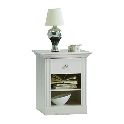 Steens Monaco 3170010013001°F, Solid Pine Bedside Table 62x 56x 46cm White Varnish by Steens