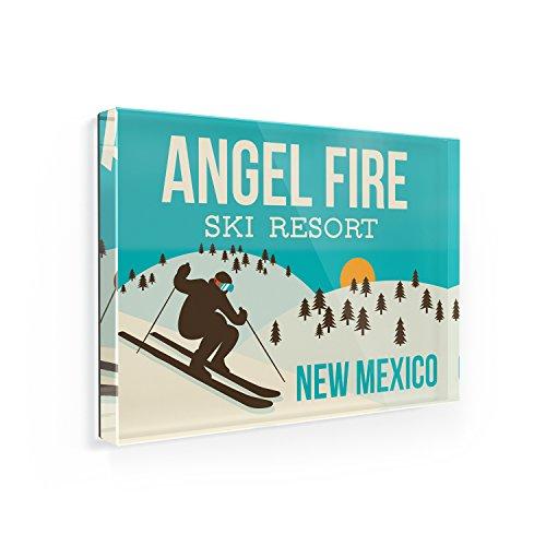 Fridge Magnet Angel Fire Ski Resort - New Mexico Ski Resort - NEONBLOND