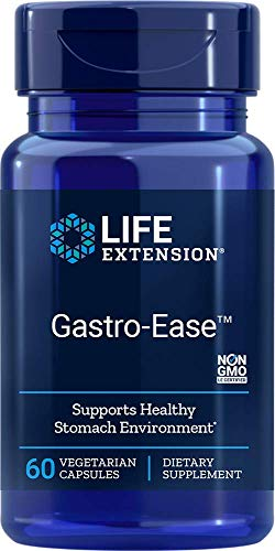 Life Extension Gastro-Ease – Digestive Health – Gastric Health – Non-GMO, Gluten-Free – 60 Vegetarian Capsules