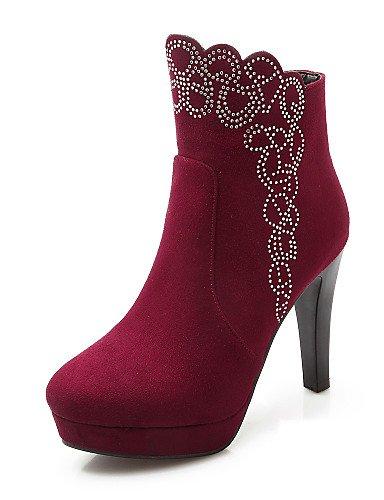 Stiletto Tacón Punta Rojo Xzz Red Vellón Uk8 5 us7 Redonda 5 Cn43 Botas Casual Zapatos 5 La Mujer A Eu38 Negro Vestido De us10 Black Uk5 5 Cn38 Eu42 Moda IZXwZ