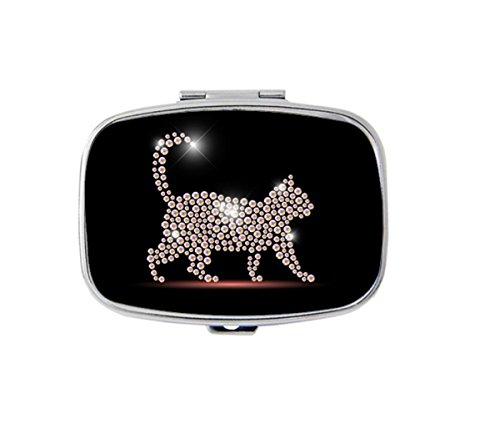Udoosun Cat Pill Box Pill Boxes For Purse Pill box case Pocket Purse Travel Pill Vitamin Decorative Box