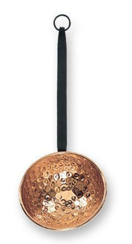 - Old Dutch Décor Copper Ladle with Wrought Iron Handle, 6 by 17.5-Inch