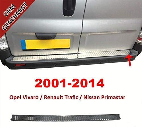 Dark Chrome Rear Bumper Protector Scratch Guard Fits Trafic//Vivaro 2014+