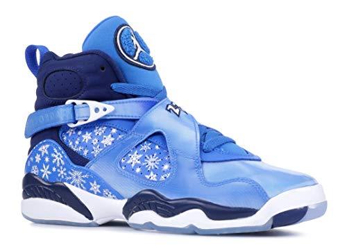Nike Air Jordan 8 Retro Big Kid's Shoe Cobalt Blaze/Blue/Void/White 305368-400 (4.5 M US)