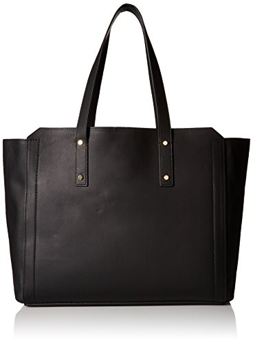 [Ivanka Trump Soho Organizational Work Tote with Battery Charging Pack, Black] (Soho Black Leather)