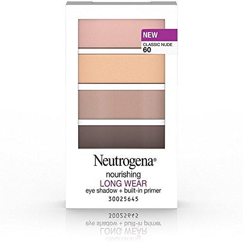 Neutrogena Nourishing Long Wear Eye Shadow + Built-in Primer, Classic Nude [60] 0.24 oz (3 Pack)