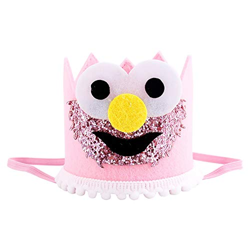 Halloween Baby Headband Sequin Smiley Face Headband Bow Crown Hairband Elastic Hair Accessories -
