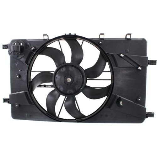 Make Auto Parts Manufacturing Premium Single Plastic Radiator Engine Cooling Fan Shroud Assembly For Buick Verano 2012-2016 / For Chevrolet Cruze 2011-2014 - GM3115243 by Make Auto Parts Manufacturing