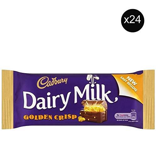 Cadbury Golden Crisp | Total 24 bars of British Chocolate Candy - Cadbury Golden Crisp 54g each ()
