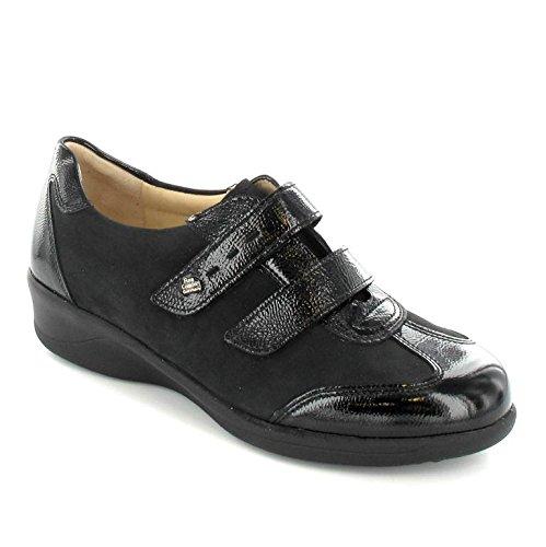 Finn Comfort Zapatilla de Messina Negro, negro, 5,5 Negro