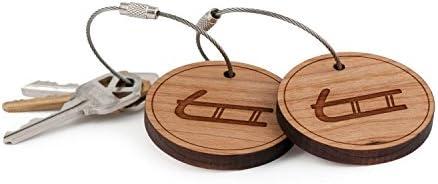 Amazon.com: Llavero trineo, de madera Twist Cable llavero ...