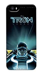 iPhone 5 Case, iPhone 5S Case, Tron Legacy Customize Hard 3D Protective iPhone 5 5S Case Cover Shock-Absorption Bumper Case for Apple iPhone 5/5S