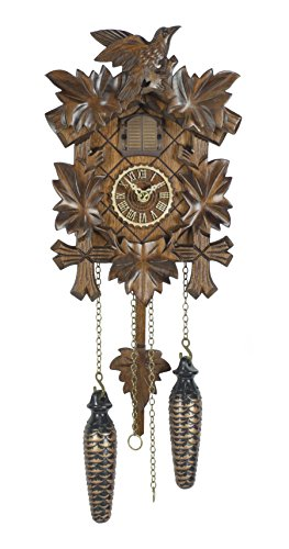 Quartz Cuckoo Clock 5 leaves, bird TU 412 Q