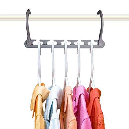 Wonder Hanger Max New & Improved, Pack of 24-3x The Closet Space for Easy, Effortless, Wrinkle-Free Clothes, Comes Fully Assembled, Grey
