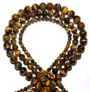 (GR127 3-Strands Golden Tiger's Eye 4mm 6mm 8mm Round Gemstone Beads 15