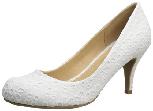 (CL by Chinese Laundry Women's Nanette Dress Pump, White Eyelet,  6.5 M)
