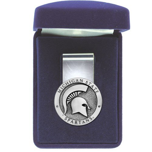 Michigan State Spartans Money Clip - NCAA College - Clip Money Ncaa Pewter