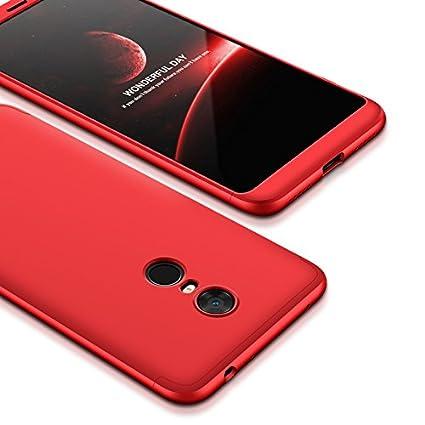 GoodcAcy Funda Xiaomi Redmi 5,Carcasa Móvil de Protección de 360°+ Cristal Templado HD Protector de Pantalla 3 en 1 Desmontable con Caso Case Cover ...