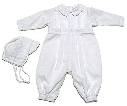 - Baby Boys Christening Outfit, Pique Christening Baptism Long Sleeve (9 M) White