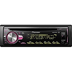PIONEER 1DIN DEH-S5000BT CAR MP3 CD STEREO W/USB AUX-IN BLUETOOTH & PANDORA+ Toyota Tacoma Double Din Car Stereo Radio Installation Dash Mount Kit Harrness