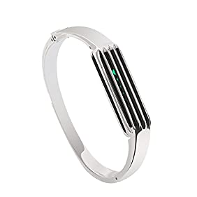 Hagibis Stainless Steel Bracelet Accessories for Fitbit Flex 2 , Sliver Small Bangle