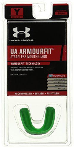 Under Armour Mouthwear ArmourFit Mouthguard (Strapless), Hyper Green, Adult ()