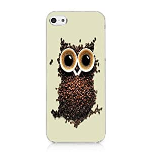 Coffee Bean Owl Case Hard Cover for Iphone 5c 2013 NEW