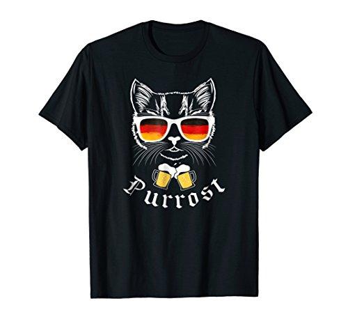 Oktoberfest T Shirt Funny Prost Pun Purrost Cat -