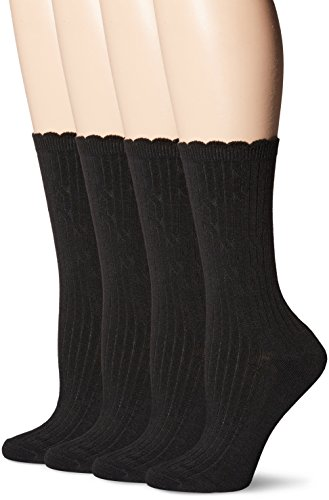 Sport Ped Socks (PEDS Women's Classic Dress Crew Socks, Black, 5-10, Pack of 4)