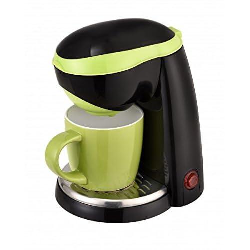 TKG Cafetière à Filtre pour Un Tasse, 400 W, 0.25 Liters, Noir/Vert