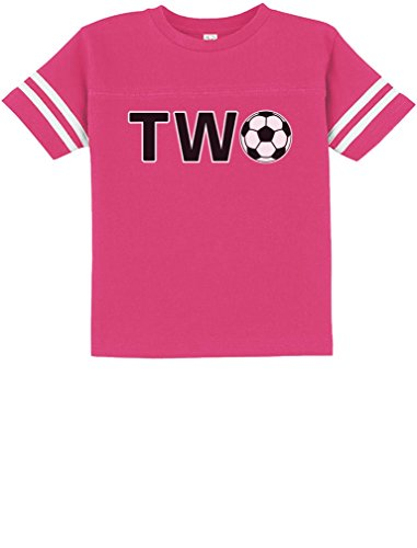Tstars 2nd Birthday Gift For Two Year Old Soccer Toddler Jersey T-Shirt 3T Wow Pink