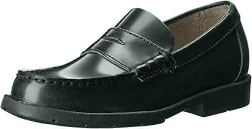 Boutaccelli Classica HARRY Boys Black High-Shine Leather Dress Penny Loafer