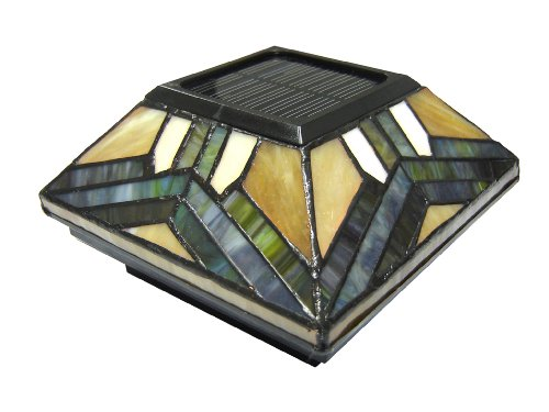Pine Top 511-0014 Solar Post Cap Night Light, Stained Glass by Pine Top Sales