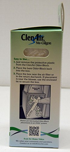 (RB)1502 ClenAir HVAC Odor Block Indoor Air Quality Neutralizer Treats Pollutants by (RB)