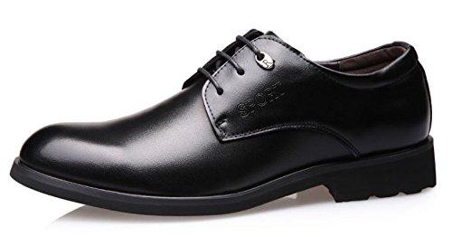 Habillées Lacets Occasionnels à Black Chaussures Chaussures Hommes Pour Chaussures Cuir D'affaires OEMPD En qZSzSP