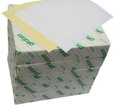 Carbonless Laser Paper - Carbonless Paper 2-Part  5 Reams / 2500 Sheets (1250 sets) Bright White / Canary 8 1/2 x 11