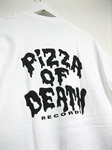 pizza of death Tシャツ サイズ:Mホワイト ステッカー付Hi-STANDARD 横山健 マキシマムザホルモン ピザオブデス ken yokoyama WANIMA