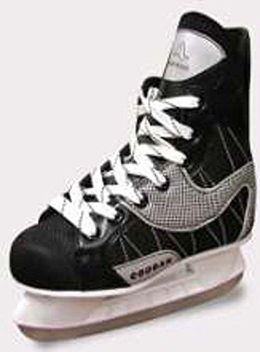 Cougar American Athletic Shoe Junior Soft Boot Hockey Skates, Black, 4