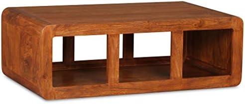 Oprecht Tidyard Salontafel met grote opslagschap rustieke acaciahout banktafel houten bijzettafel woonkamer, slaapkamer, huis meubels bruin 90 x 50 x 30 cm (L x B x H)  gLBSPQo