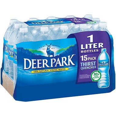 Deer Park Natural Spring Water (1L bottles, 15 pk.) (pack of 2) -