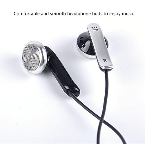 Yinyoo Qian69 Earphone Good Balanced Sound Quality Earpieces Hi-fi Stereo Bass Headphone Dynamic Flat Head Plug Fashion Design Ear Earbuds for Music Lovers(black no mic) by Yinyoo (Image #3)