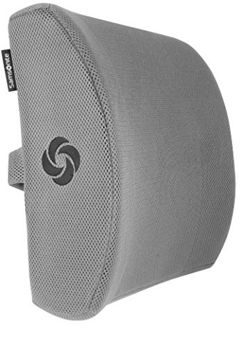 Samsonite SA5244 - Ergonomic Lumbar Support Pillow - Helps Relieve Lower Back Pain - 100% Pure Memory Foam - Improves Posture - Fits Most Seats - Breathable Mesh - Washable Cover - Adjustable Strap by Samsonite (Image #1)