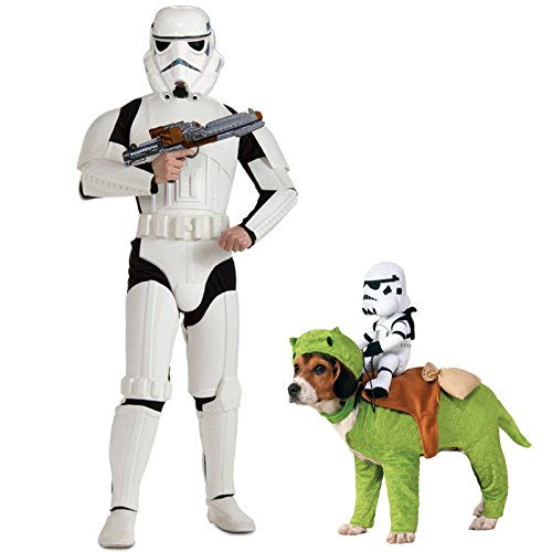 Star Wars Dlx Stormtrooper Adult Standard Costume Bundle Set ()