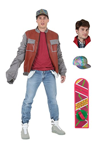 [Fun Costumes mens Back to the Future Marty McFly Jacket Package Medium] (Marty Mcfly Costumes)