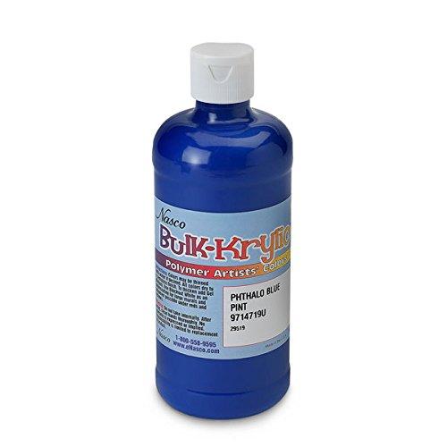 (Nasco 9714719(U) Bulk-Krylic Acrylic Paint, 1 pint Squeeze Bottle, Phthalo)