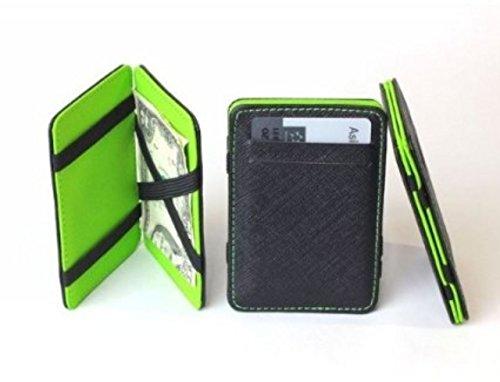 Generic New Mens MAGIC MONEY CLIP Leather Wallet Slim Money Clip Slim Wallet (Green)